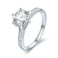 925 Sterling Silver Wedding Ring Princess Square CZ Finger Rings for Women Silver Engagement Jewelry SCR342