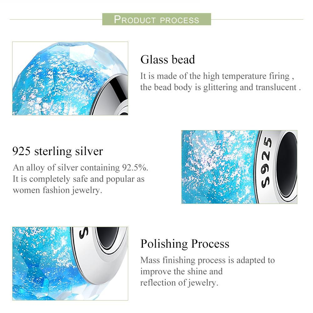 925 Sterling Silver Pattern European Murano Glass Beads Charms fit Women Bracelets & Bangles Jewelry SCZ054