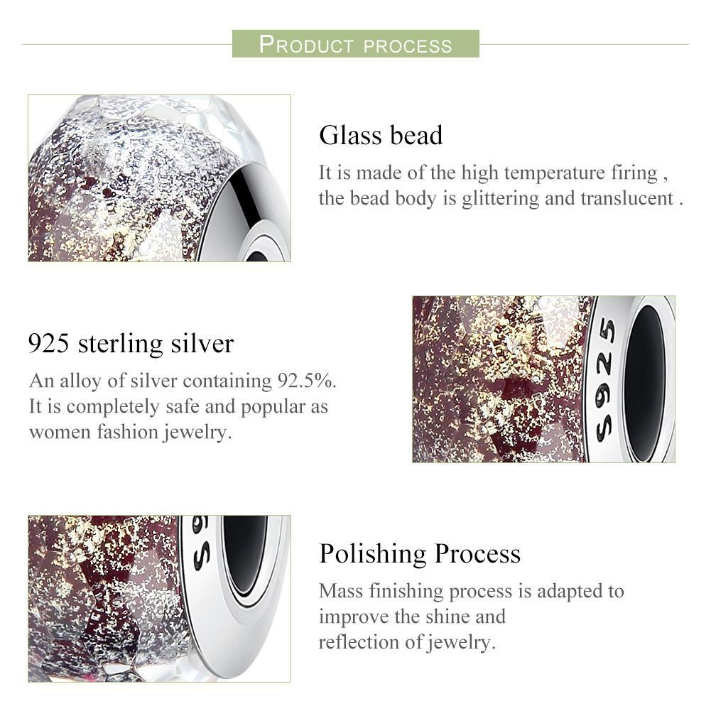 925 Sterling Silver Pattern European Murano Glass Beads Charms fit Women Bracelets & Bangles Jewelry SCZ061