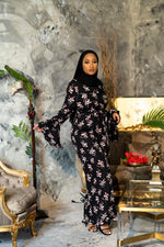 Load image into Gallery viewer, Black Printed Flare Jumpsuit