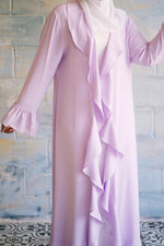 Load image into Gallery viewer, Lilac Ruffle Abaya