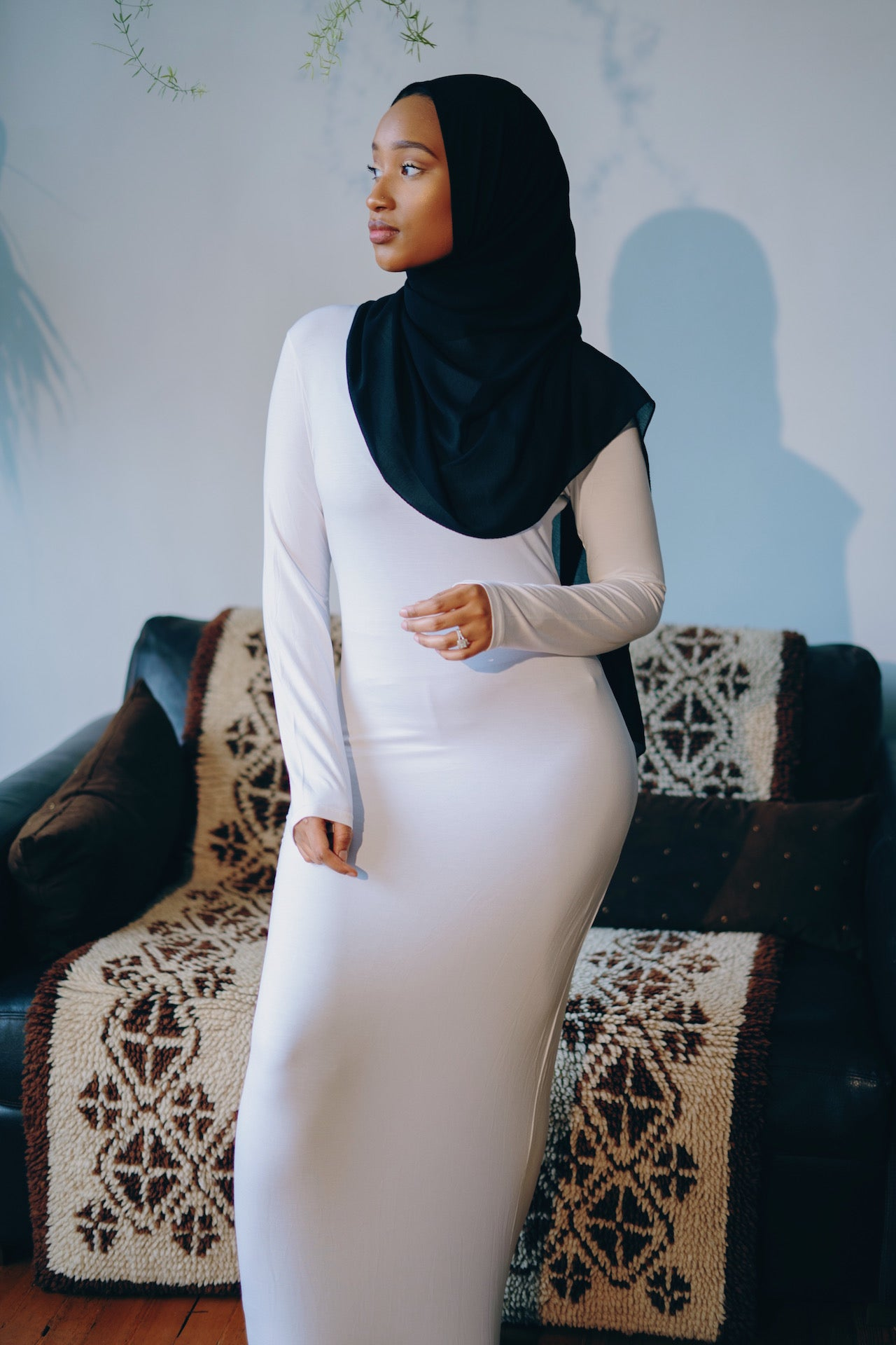 Essential Maxi Bodycon Dress-White