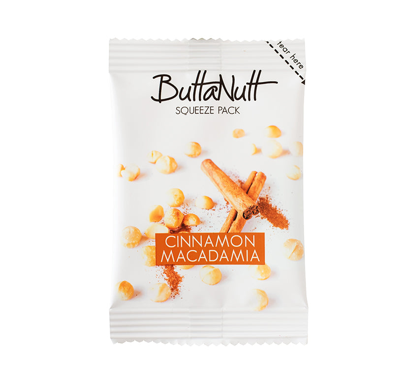 Cinnamon Macadamia Squeeze Pack (32g)