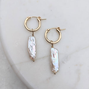 Biwa gold hoop earrings