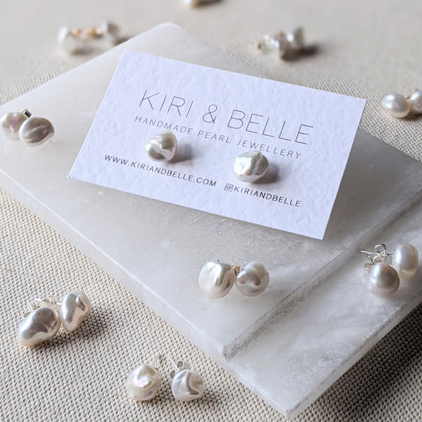 Keshi-Pearl-Stud-Earrings-Kiri-&-Belle-Card