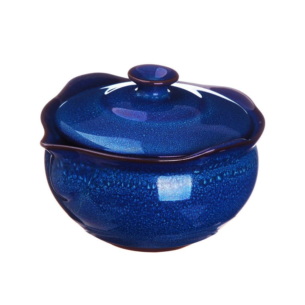 Chinese Ceramic Kung Fu Teapot-Jade Glazed Pot Blue
