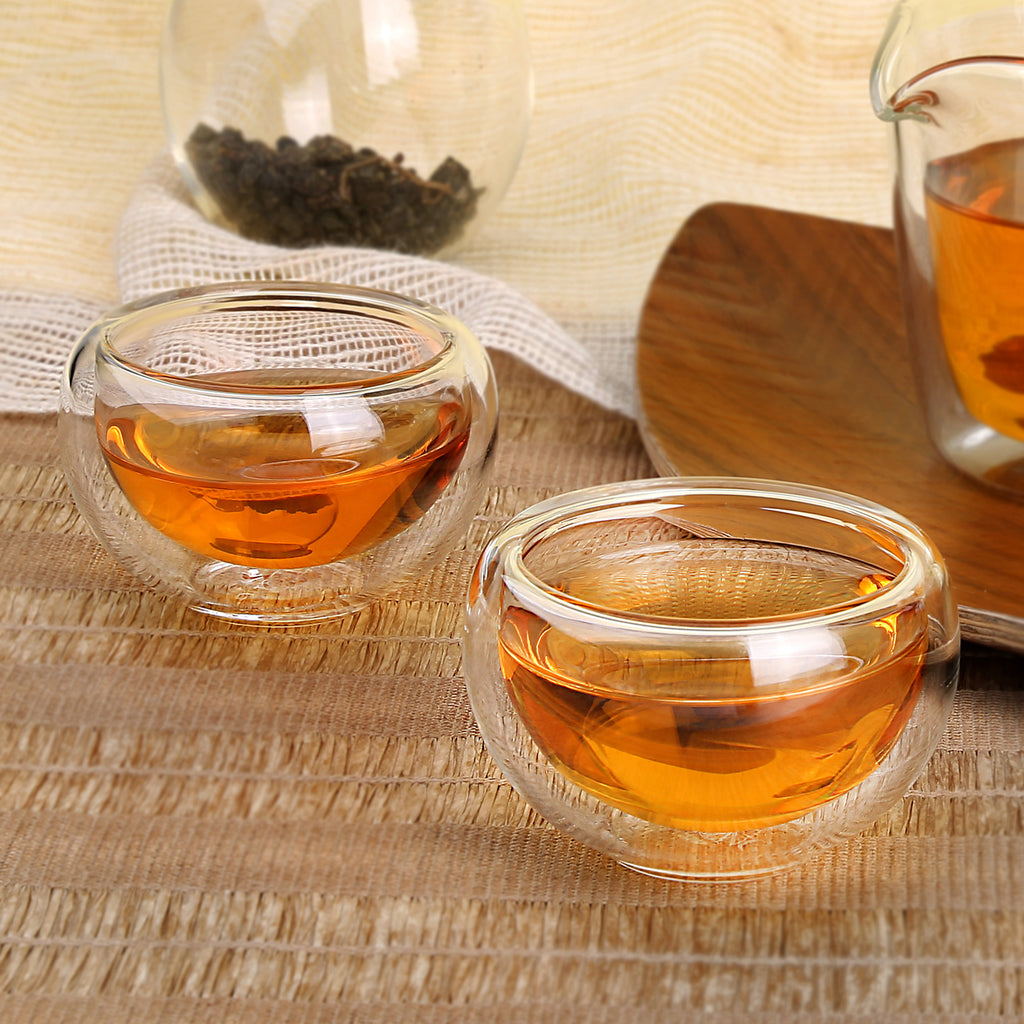 Double Wall Heat Resistant glass Small Kung Fu Tea Cup 01