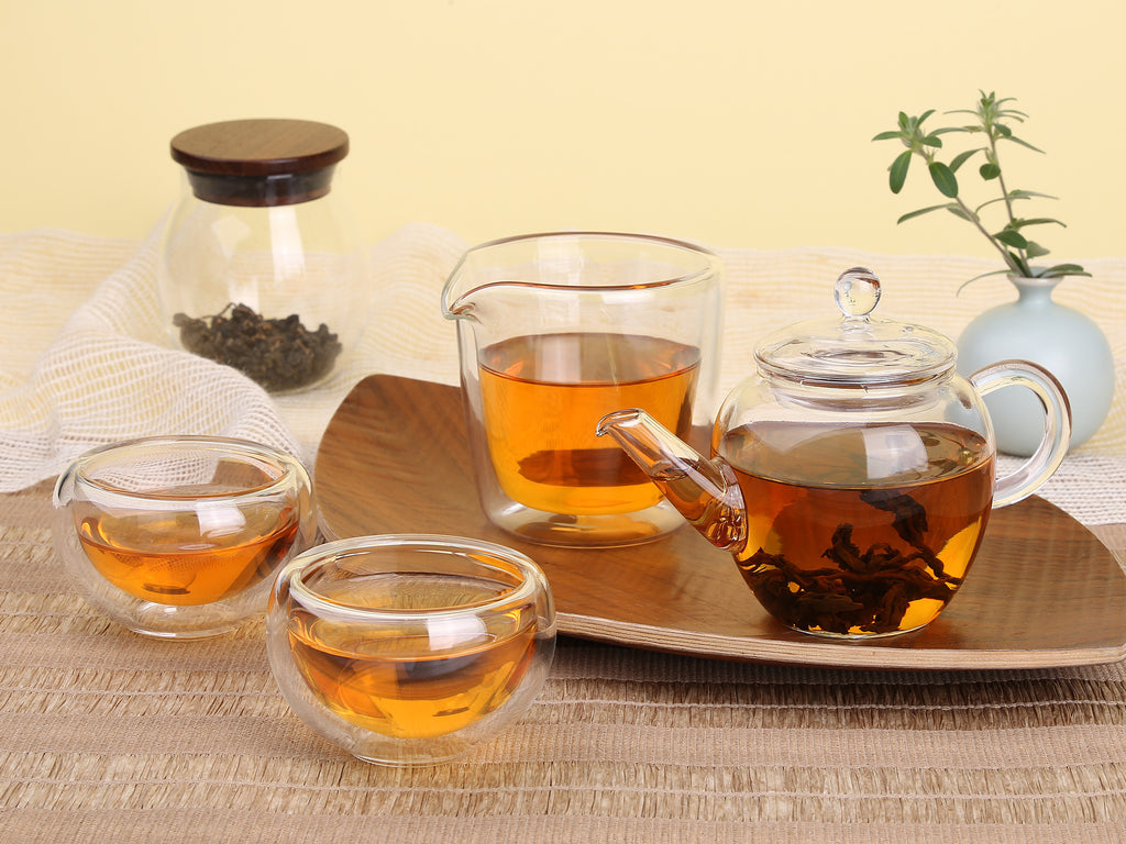 Double Wall Heat Resistant glass Small Kung Fu Tea Cup 02