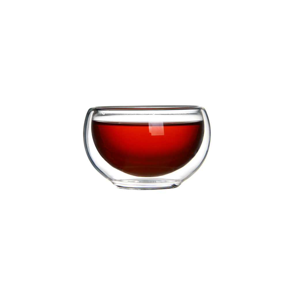 Double Wall Heat Resistant glass Small Kung Fu Tea Cup