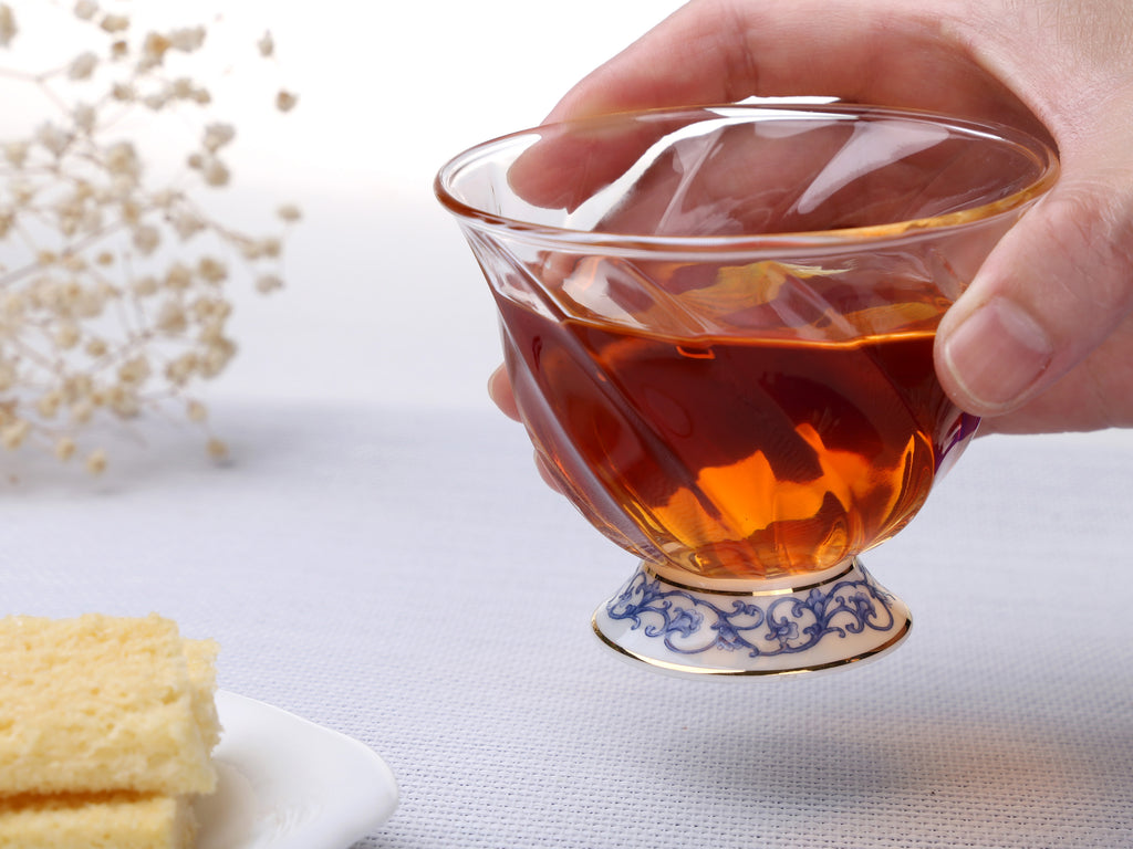 luxury glass tea cup-Fusion Asia 01