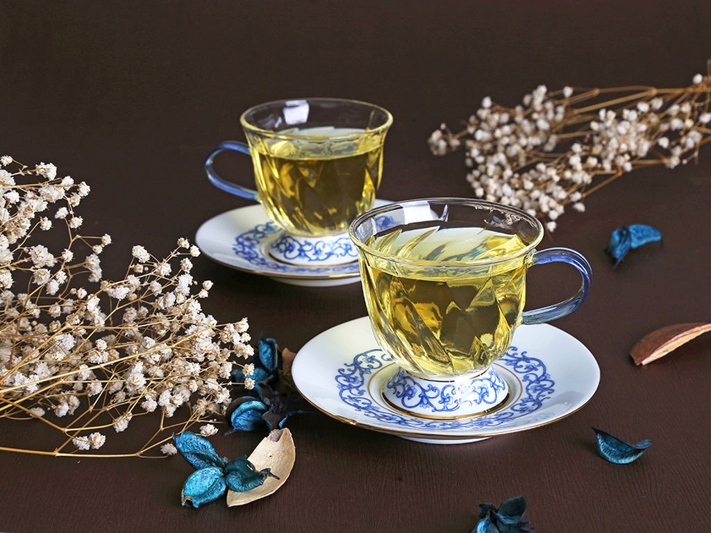 luxury glass cup and saucer-Fusion Asia 02
