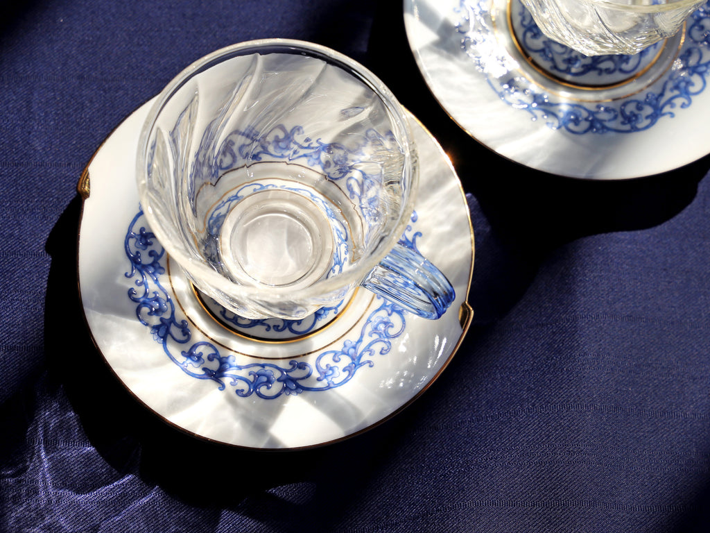 luxury glass cup and saucer-Fusion Asia 03