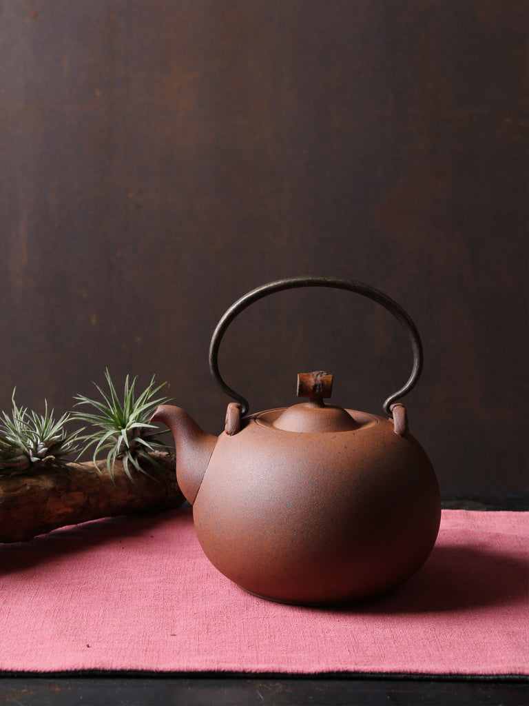 Japanese Style Ceramic Kettle-Crescent Spring 1250ml 05