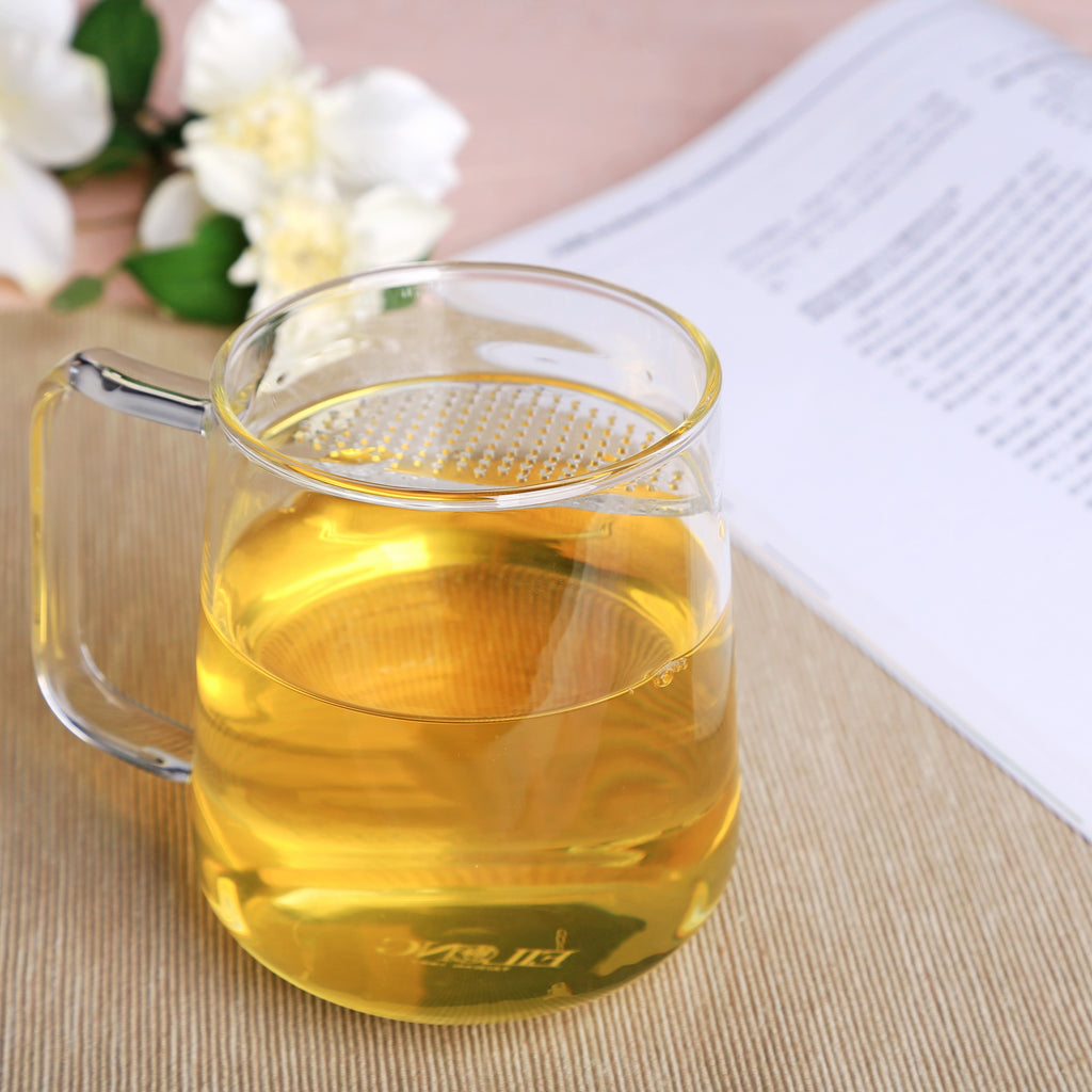clear glass tea mug-lune filter mug 06