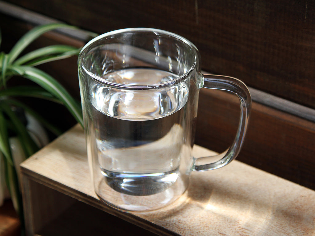 Clear Double Wall Heat Resistant glass Glass Mug 350ml 05