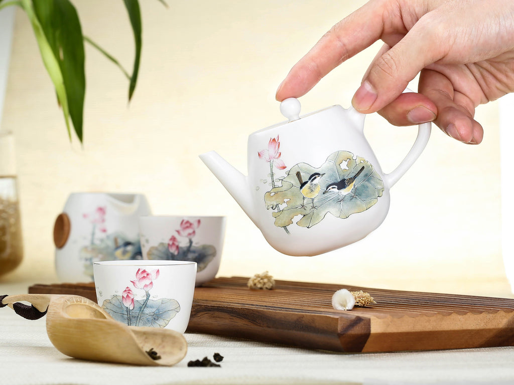 porcelain chinese tea cup-summer lotus pond 03