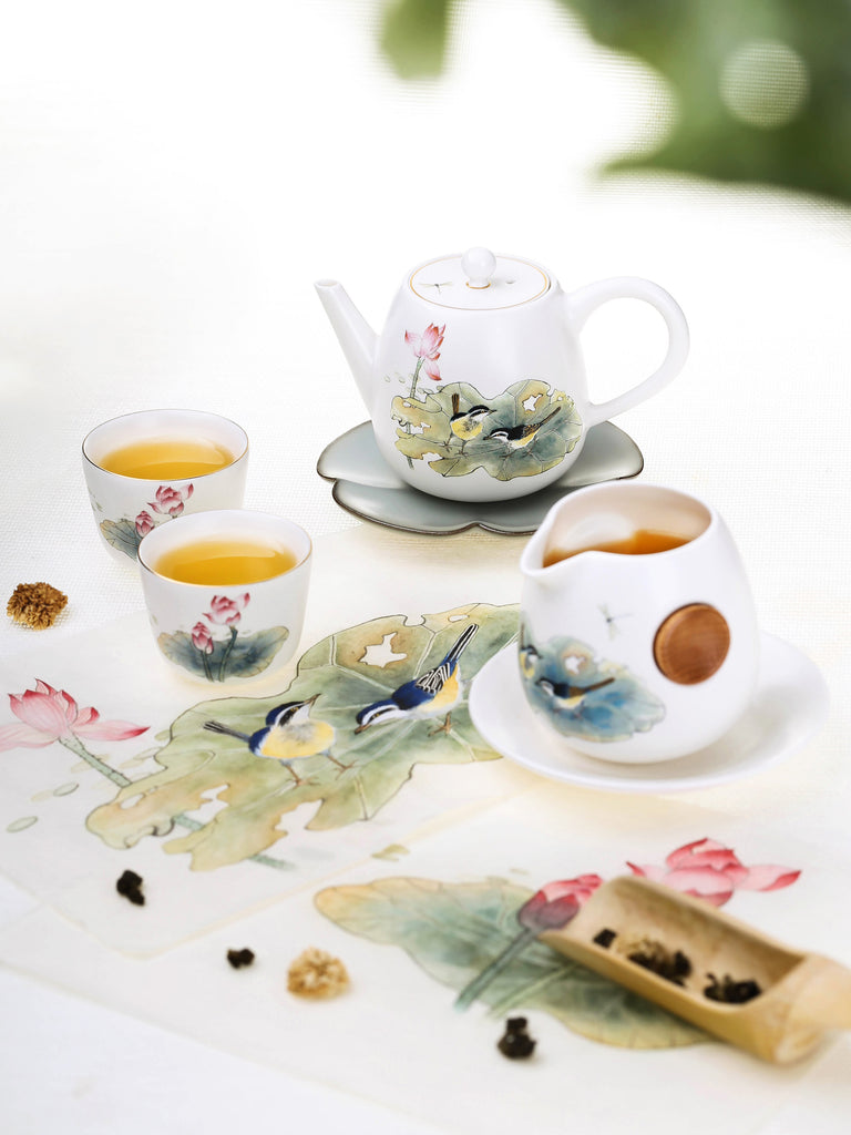 porcelain chinese tea cup-summer lotus pond 04