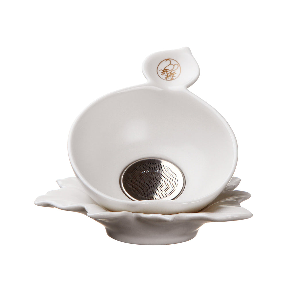 white porcelain Kung Fu Tea Filter Set-chinese cloud tea filter set