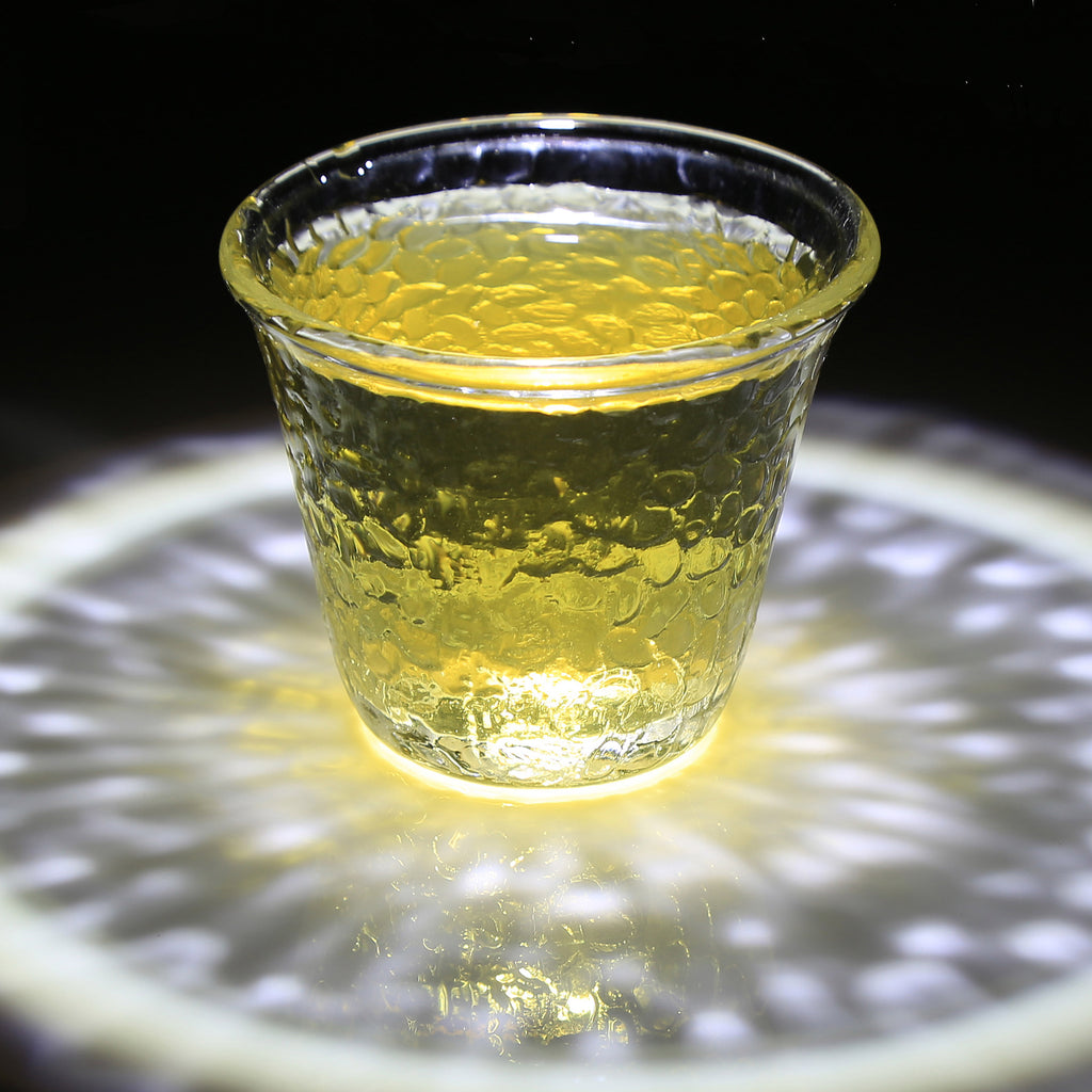 handmade glass kung fu tea cup-Hammer Impression Glass Cup 70ml 00