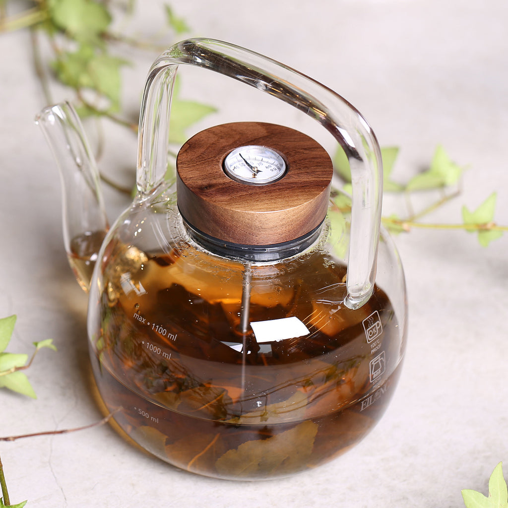 borosilicate glass kettle with thermometer-Retro Glass Kettle 1100ml 01