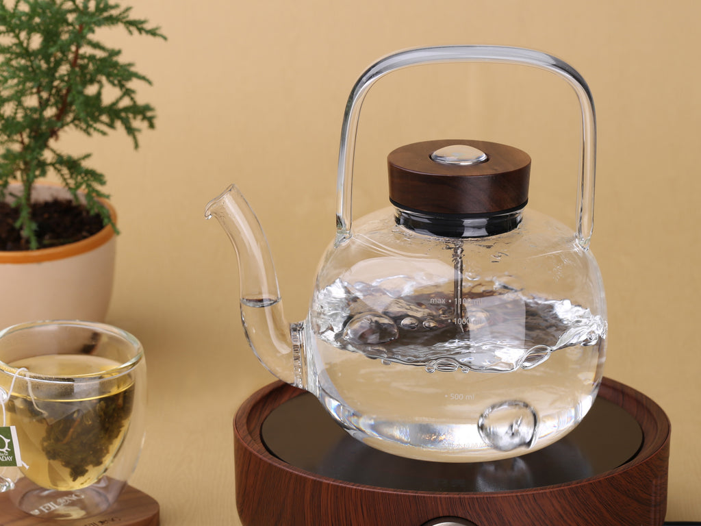 borosilicate glass kettle with thermometer-Retro Glass Kettle 1100ml 02