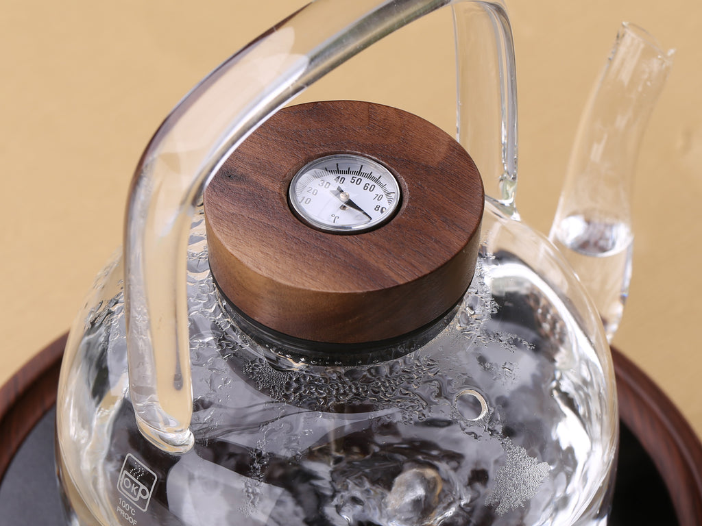 borosilicate glass kettle with thermometer-Retro Glass Kettle 1100ml 04