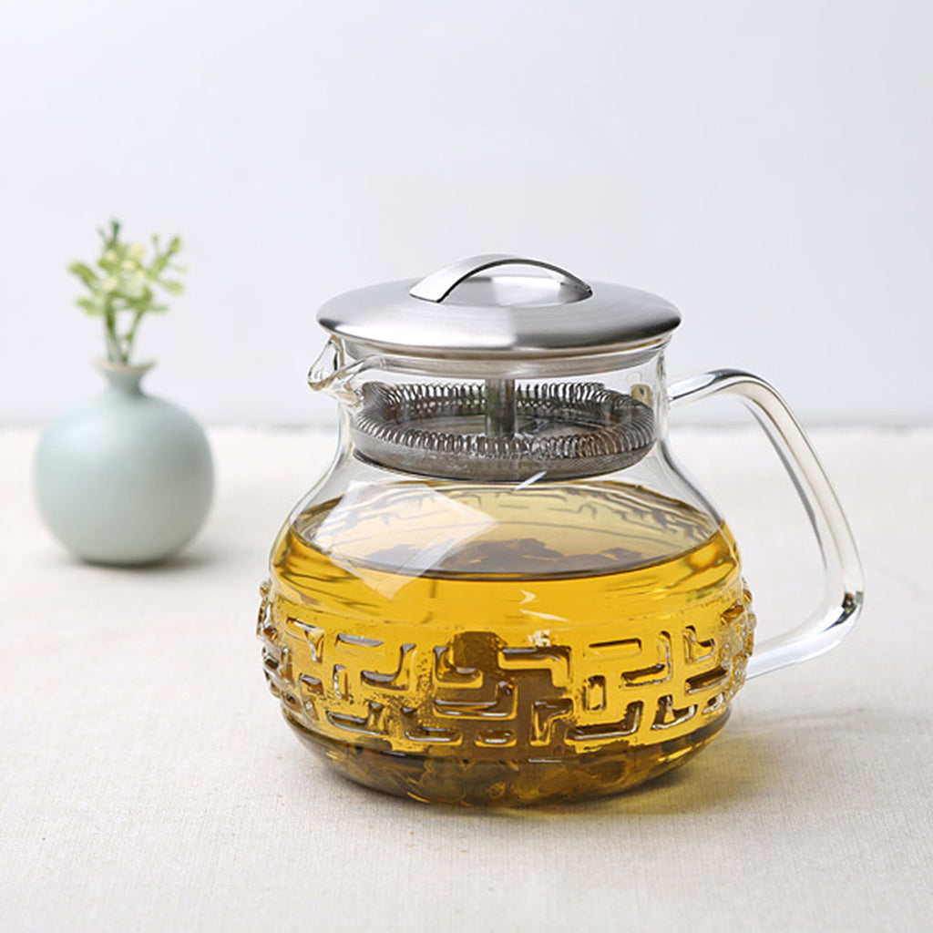Transparent Glass Teapot-Tea Master Teapot Bagua 23oz 00