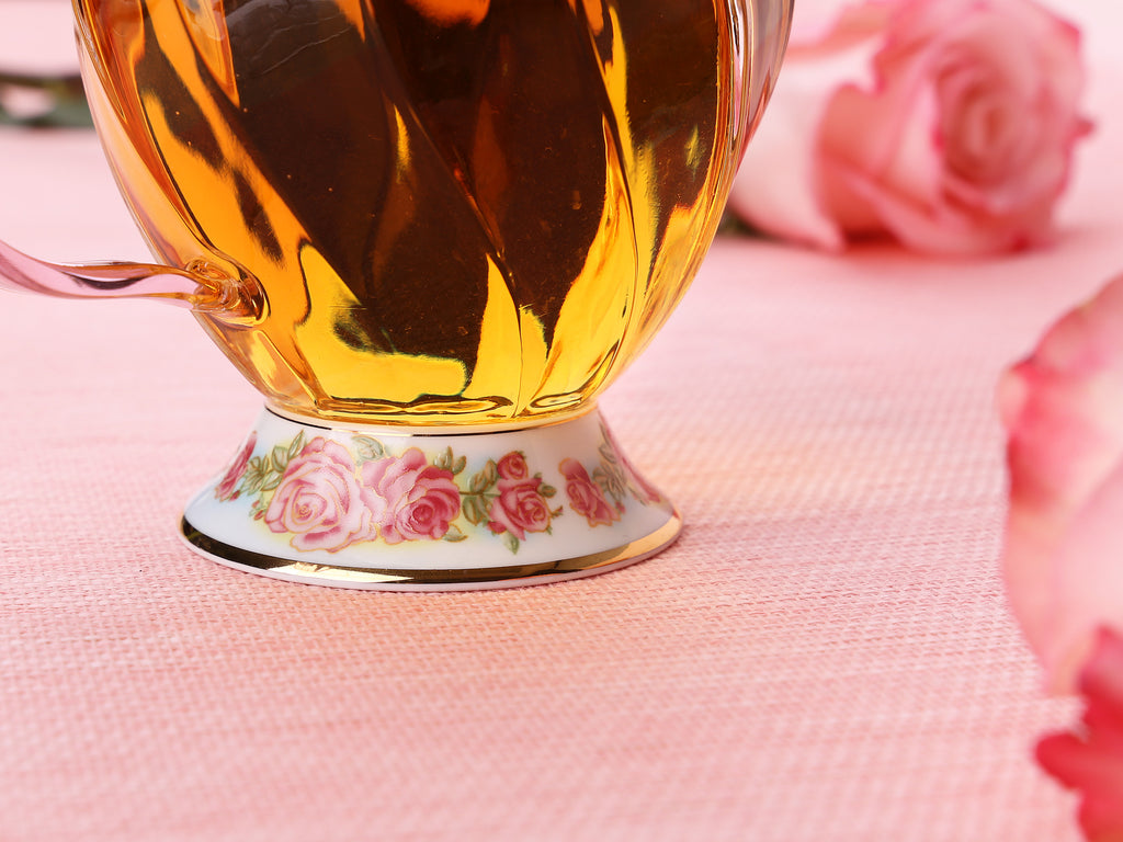 beautiful glass teapot gift set-Fusion Rose Tea Ware Gift Set 4PCS 05