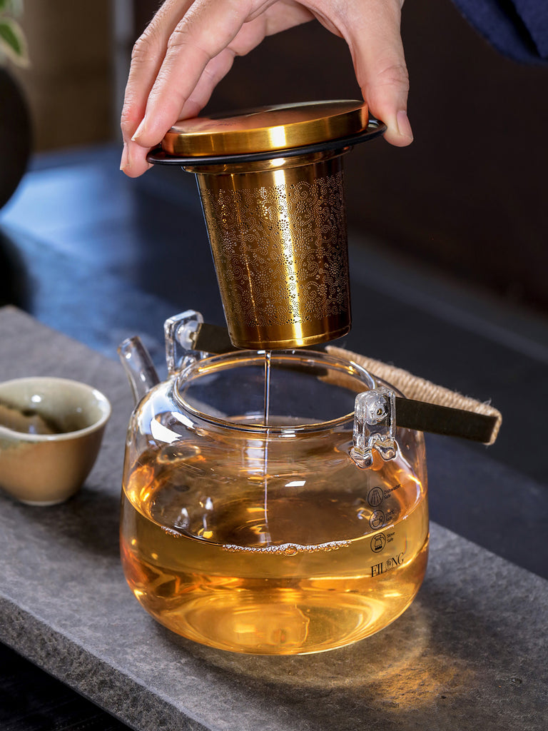 luxury glass teapot-Aurura Tea Infuser Teapot 05