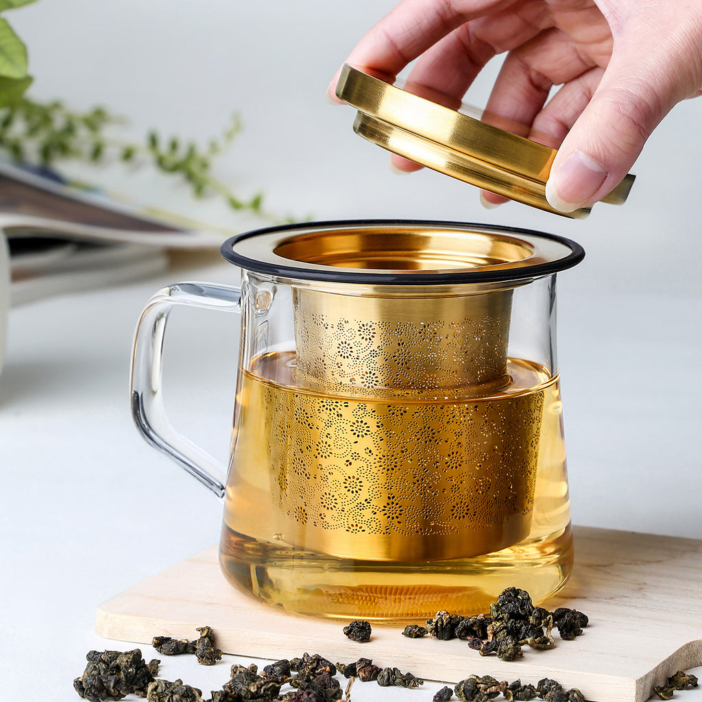 luxury stainless steel tea infuser-Aurora Tea Infuser