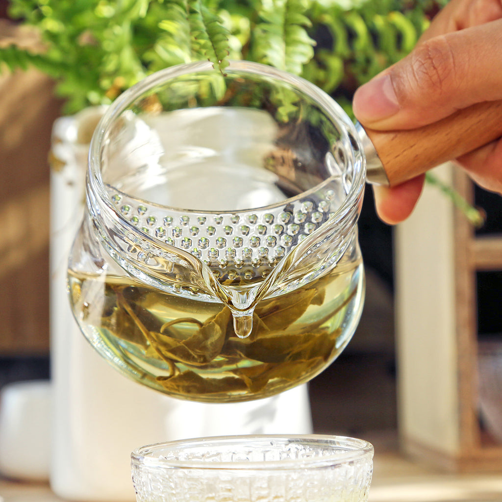making herbal tea tool-Simple Glass Filter Pitcher 11oz 05