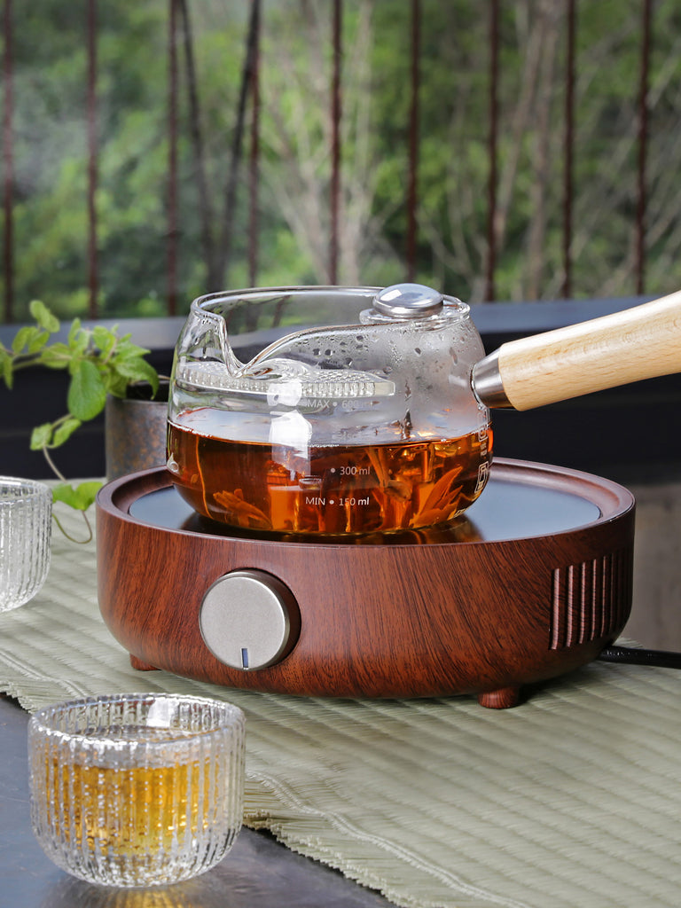 making herbal tea tool-Simple Thermometer Glass Pot 06