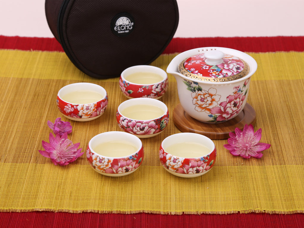 porcelain kung fu travel teaware set-Charming Taiwan Travel Bag 00