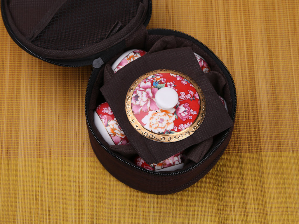 porcelain kung fu travel teaware set-Charming Taiwan Travel Bag 01