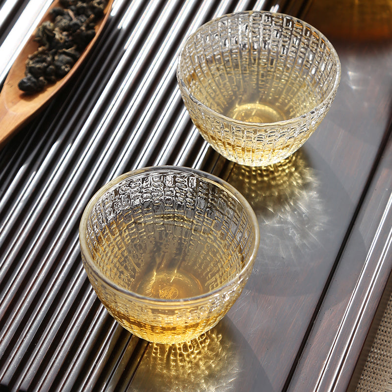 Japaneses glass tea cup-shell glass cup 01