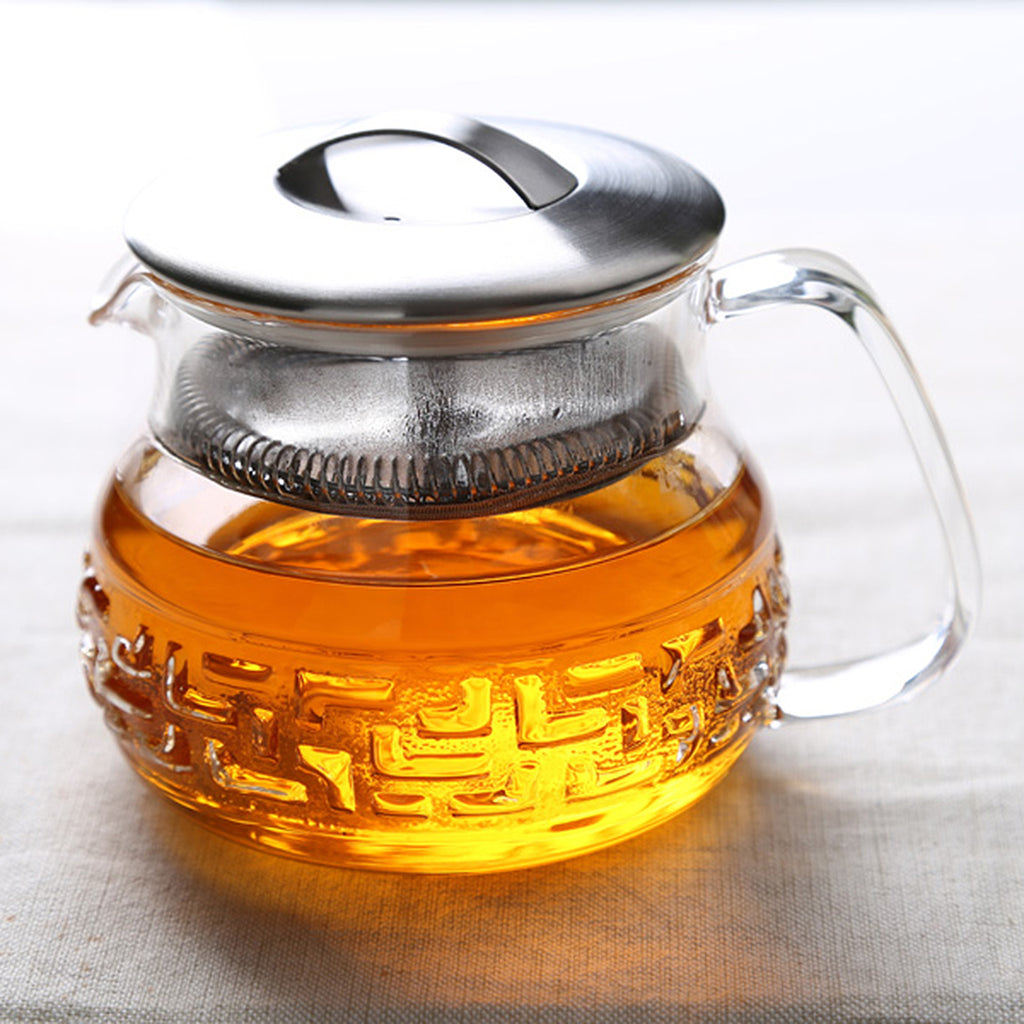 Transparent Glass Teapot-Tea Master Teapot Bagua 13oz 00