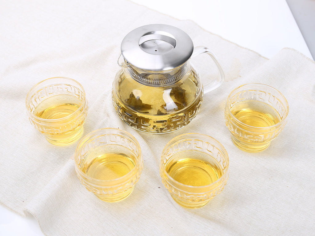 taiwan glass tea set-Tea Master Gift Set Bagua 5pcs 06