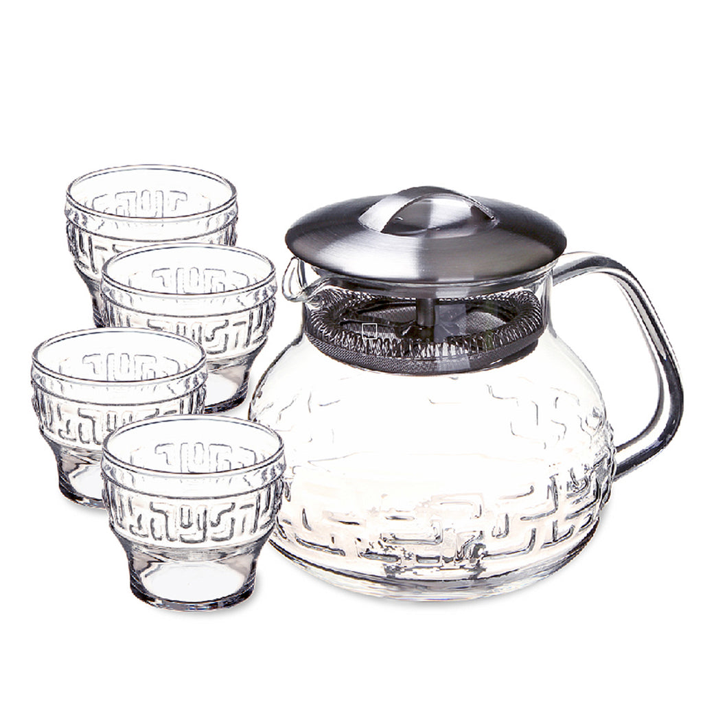 taiwan glass tea set-Tea Master Gift Set Bagua 5pcs
