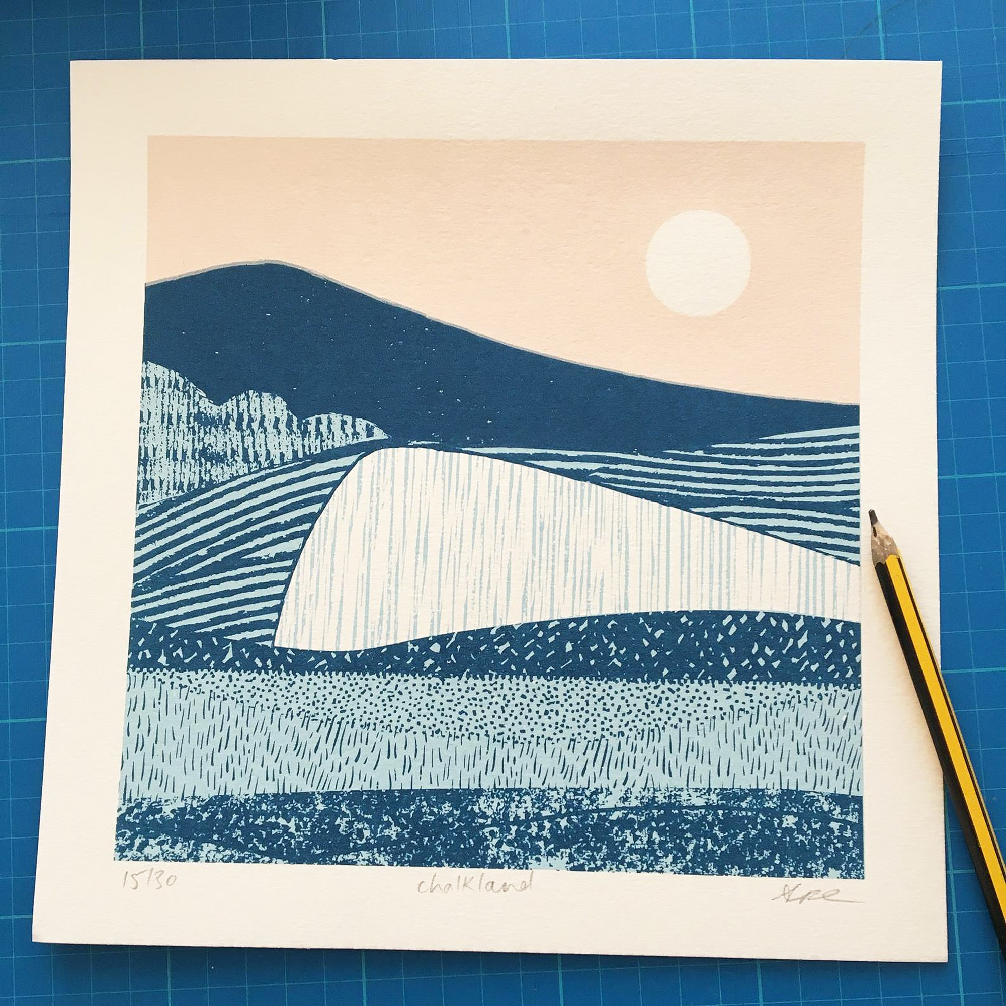 Chalkland screen print