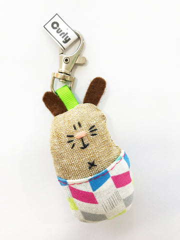 The Pants Gang Bunny keyring
