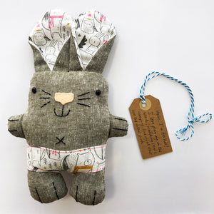 The Pants Gang bunny toy
