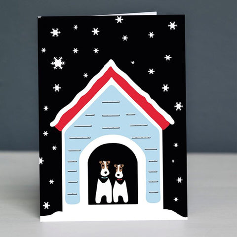 Snowy Dog Christmas card