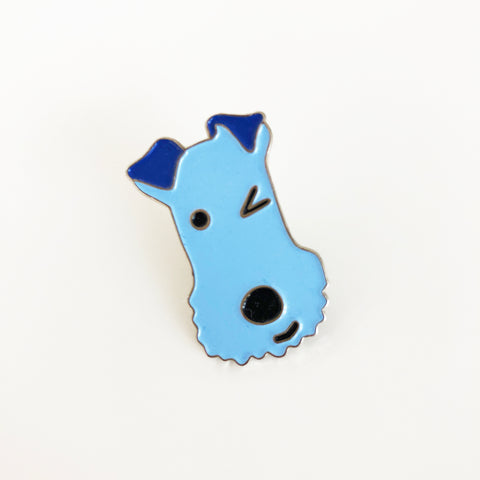 Winking dog pin