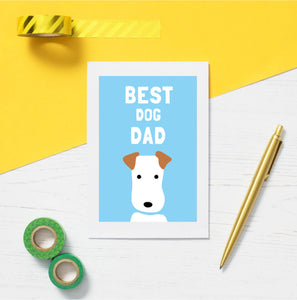 Best Dog Dad greetings card - Inspired