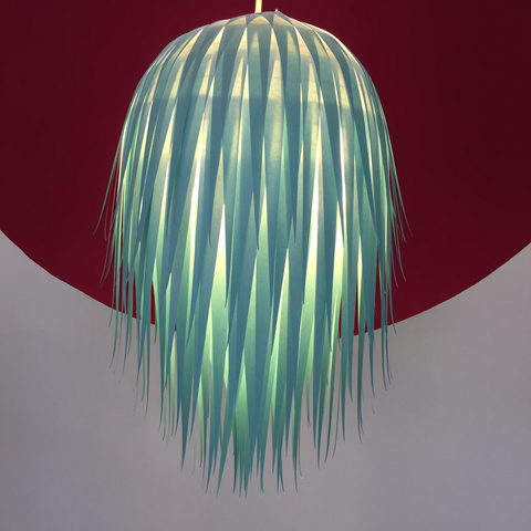 Duck egg blue Ombre lampshade