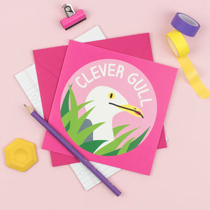 Clever Gull greetings card