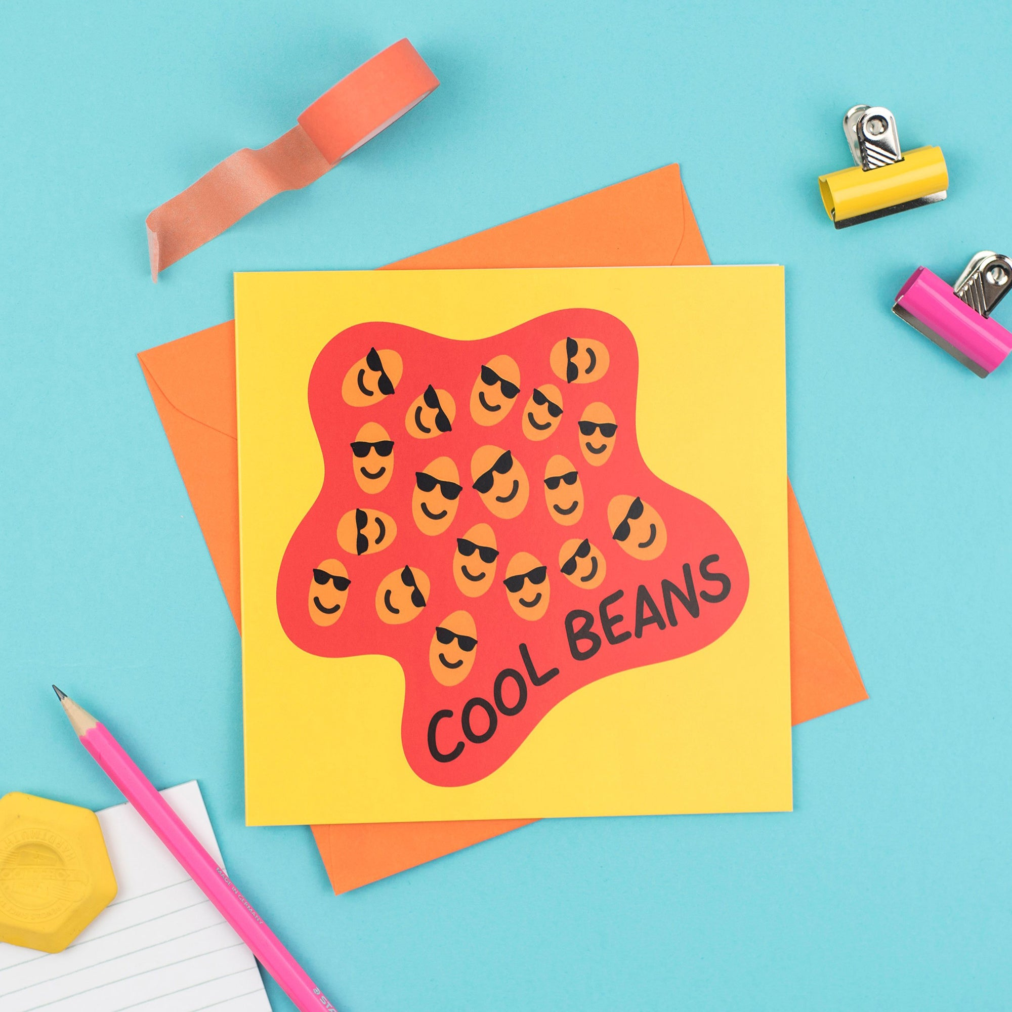 Cool Beans greetings card