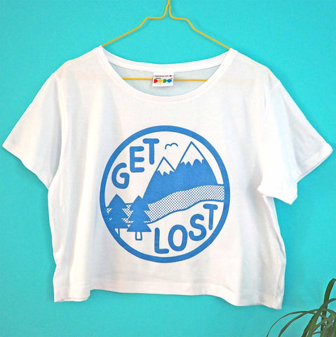 Get Lost cropped t-shirt