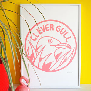 Clever Gull screen print - Inspired