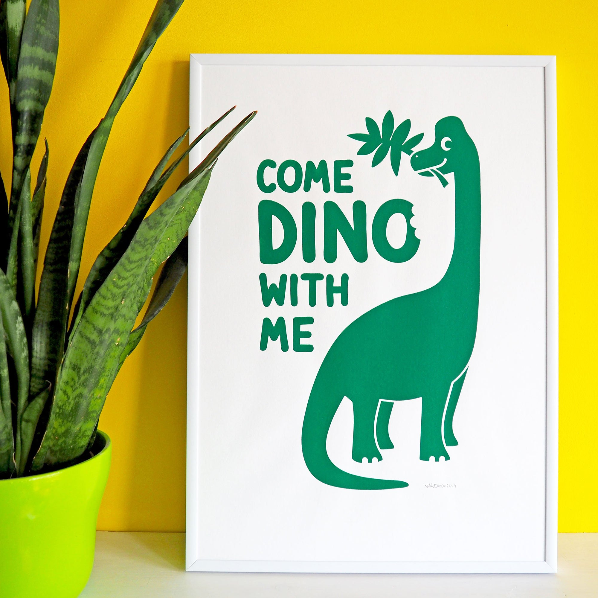 Come dino with me screen print - Inspired